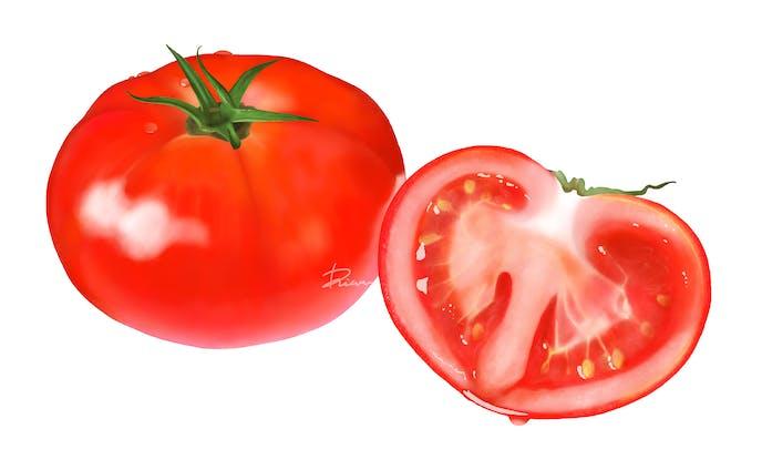 みずみずしいトマト (4/2021)