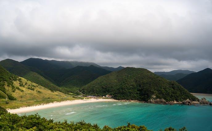 福江島での広報用写真の撮影