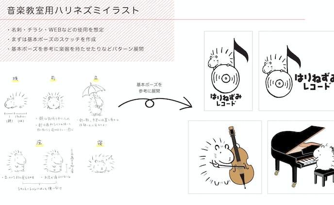 音楽教室用 - ハリネズミイラスト