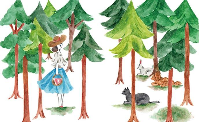 森の出会い