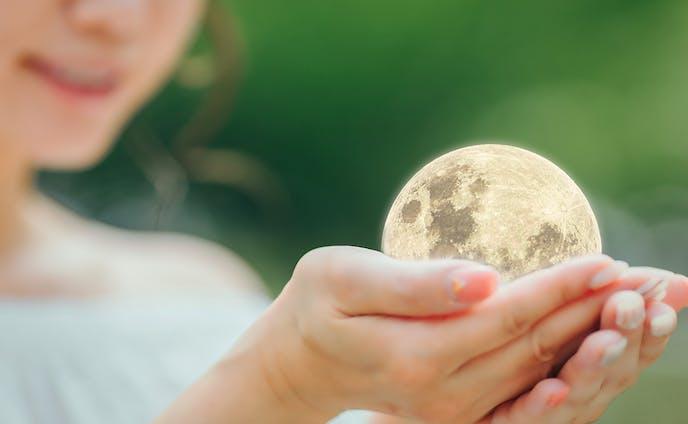 having the moon