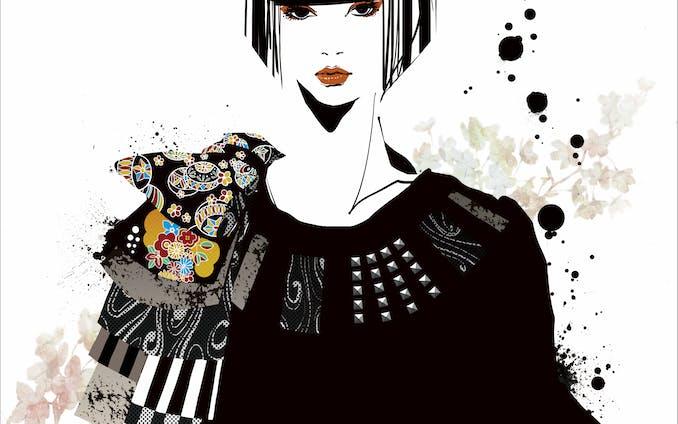 イラスト デザイン、ファッションイラスト