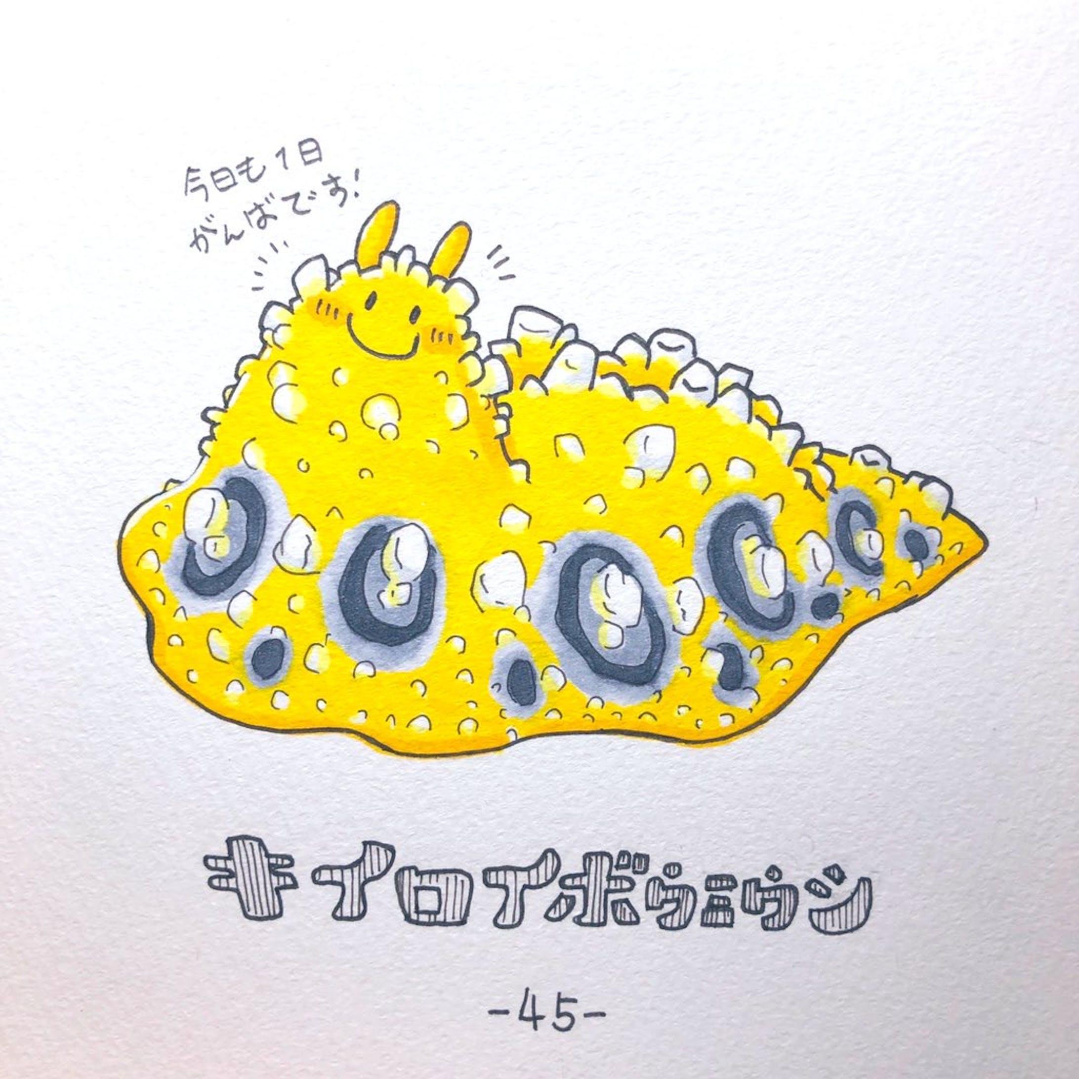 #毎日ゆるかわウミウシ(15〜60)-33