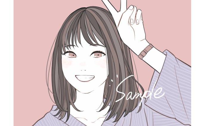 似顔絵【シンプルテイスト】