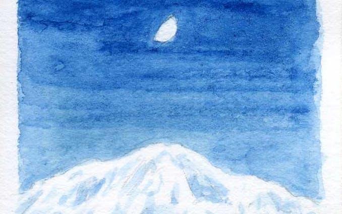 月のある風景