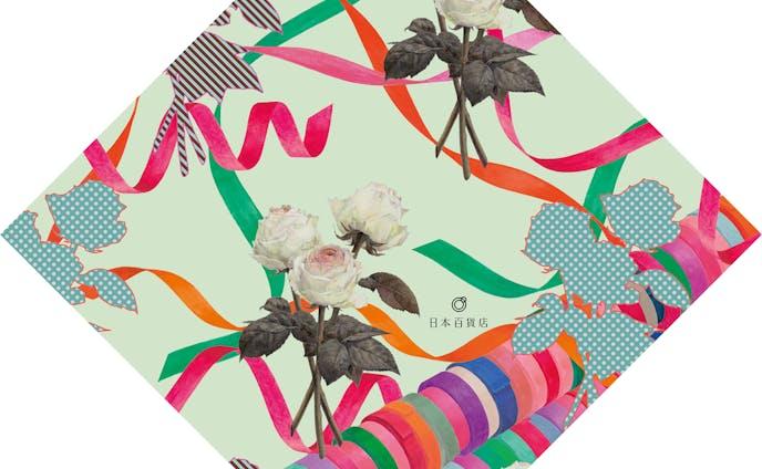 バラとリボン(日本百貨店「晴」のための包装紙)