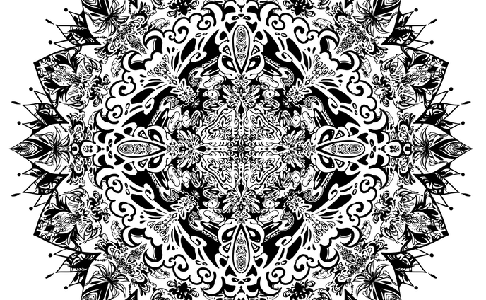 対称定規紋様