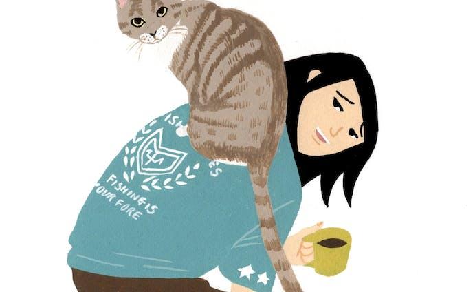 ネコと暮らすカット