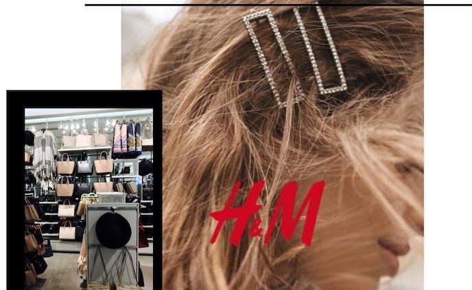 H&M visual merchandising for accessories floor