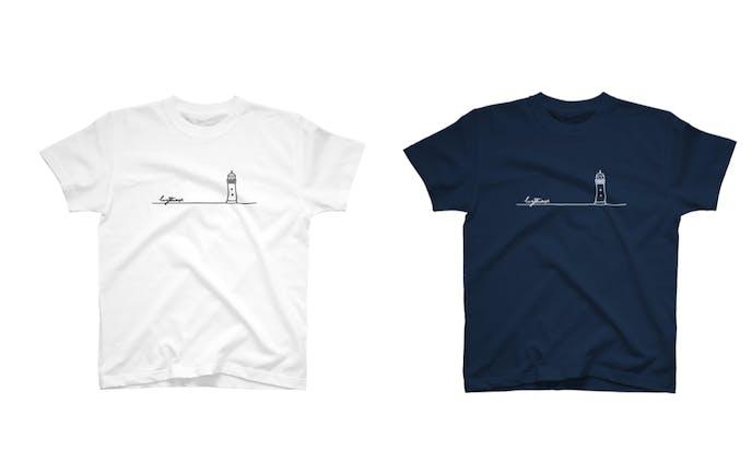 シンプルな灯台Tシャツ