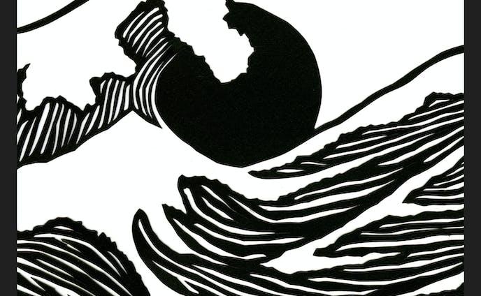 Hokusai Paper Cut
