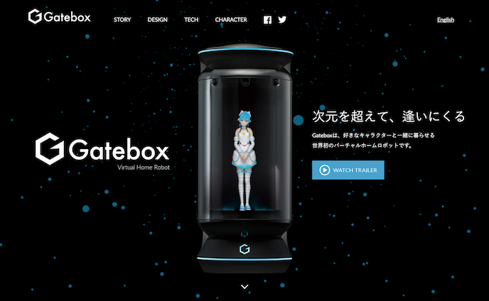 Gatebox website