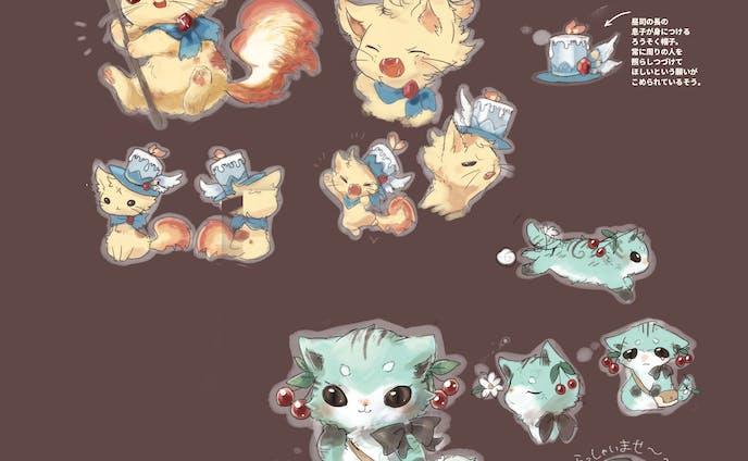 fantasy cat キャラクターデザイン