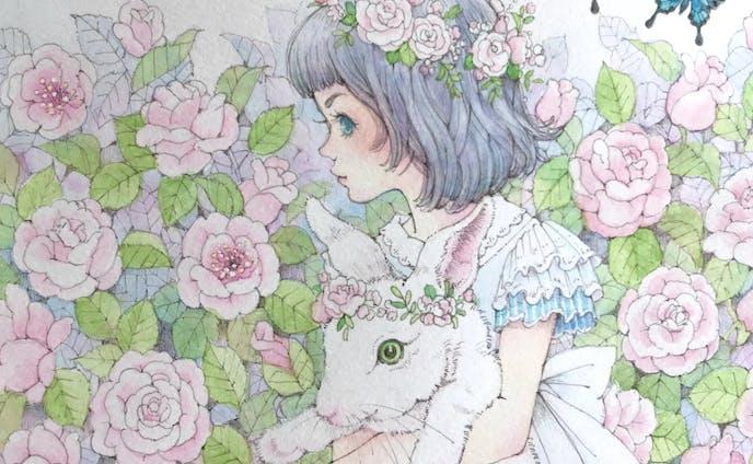 『薔薇の迷路』白ウサギとアリス