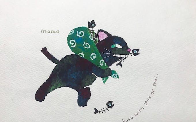 【イラスト】『野良猫ストリート』 @momo