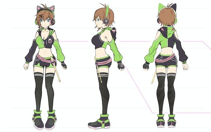 そらしどりむ - キャラクターデザイン