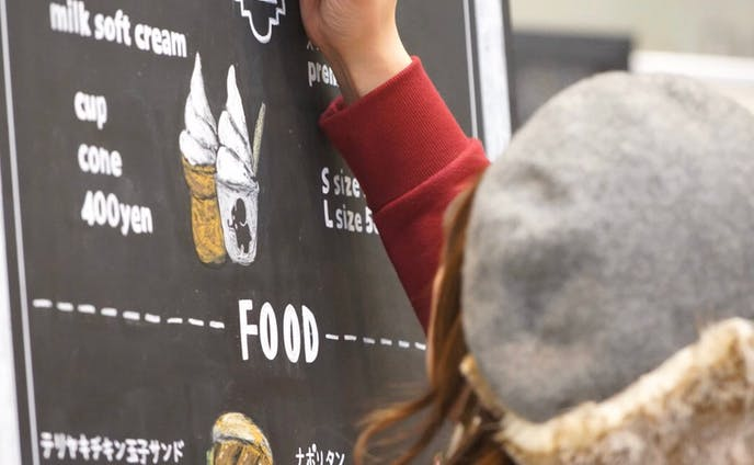 武田食品フード&リカーフェア2019 カフェメニューライブペイント