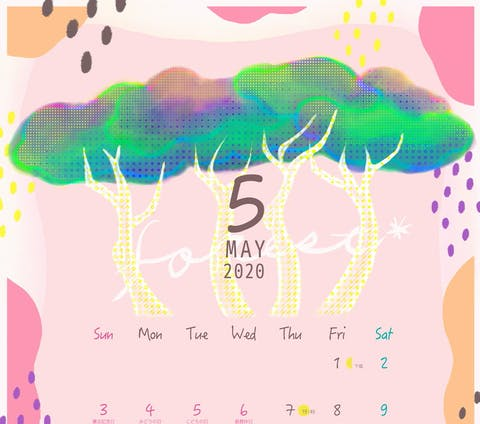 5月のカレンダーイラスト
