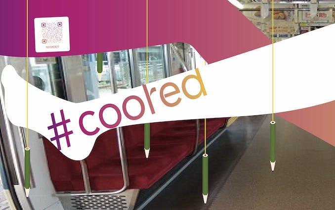 【仮想】「coored」中吊り