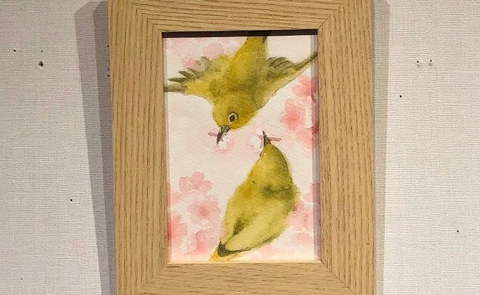 『桜手まり』(1枚目)/『春の野原で…』(2枚目)