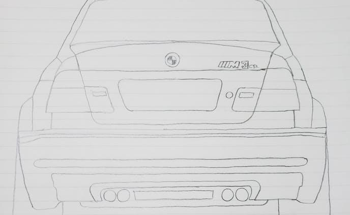 BMW E46 M3CSL テールデザイン