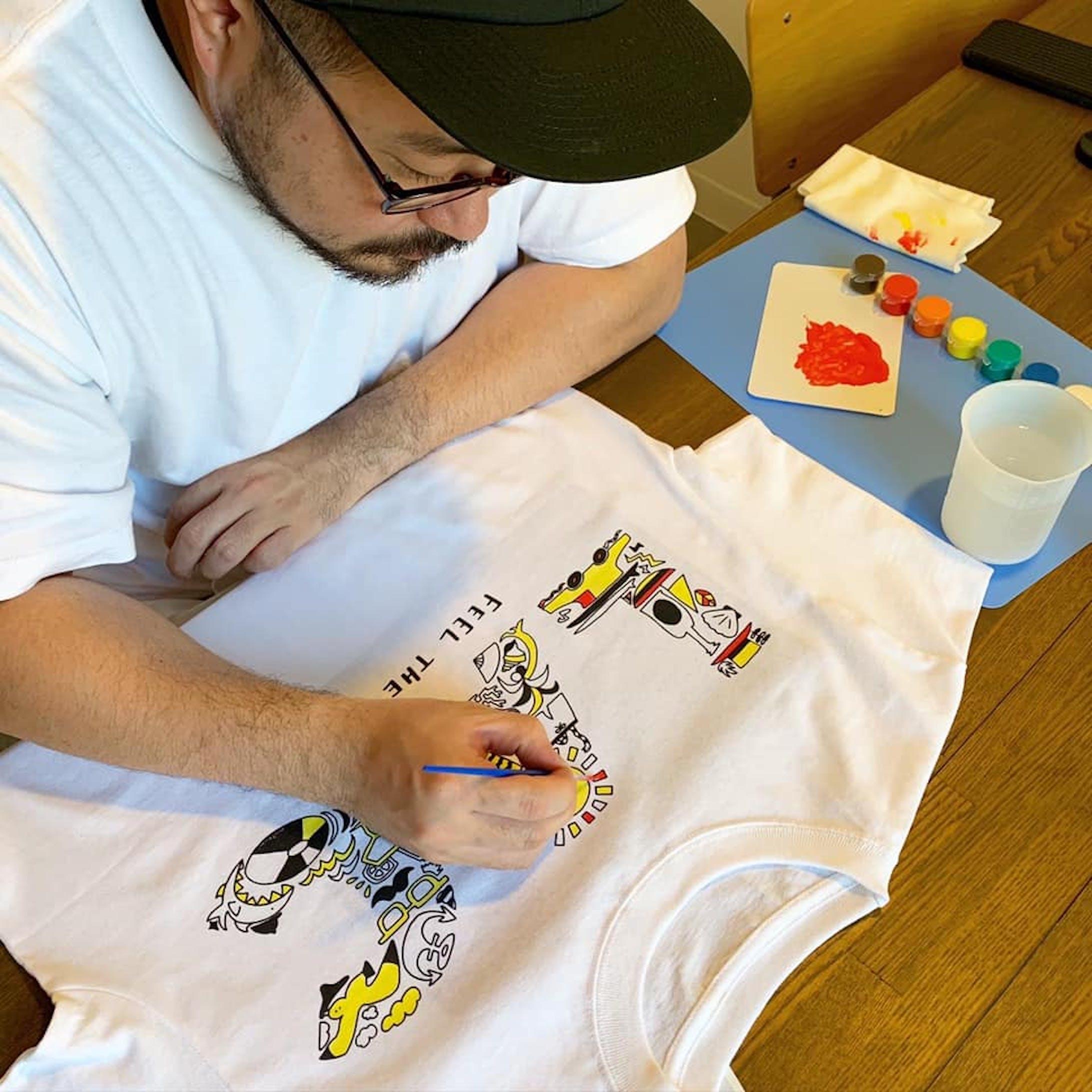 塗り絵Tシャツ - NURIE TEE --3