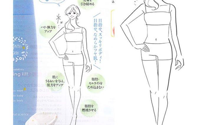 「メッセプラス」初夏号で女性の全身イラスト1色