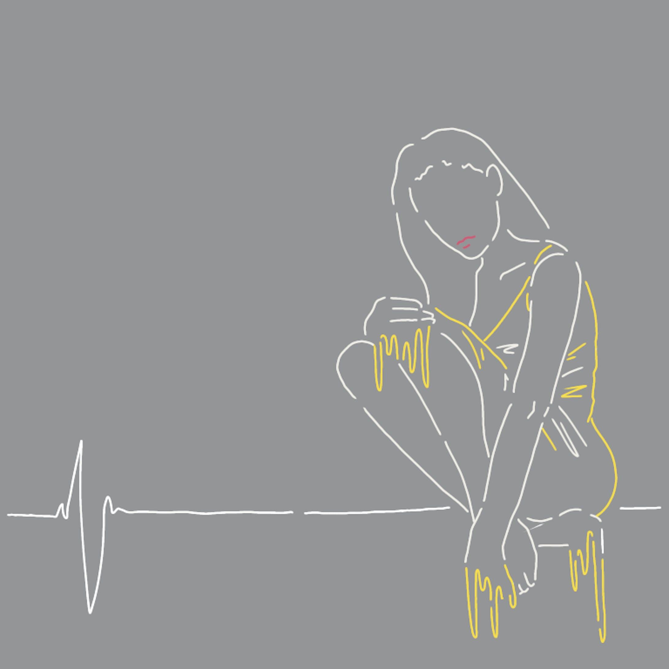 人物線画イラスト-4