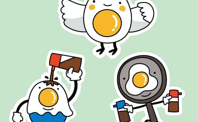 卵のキャラクター