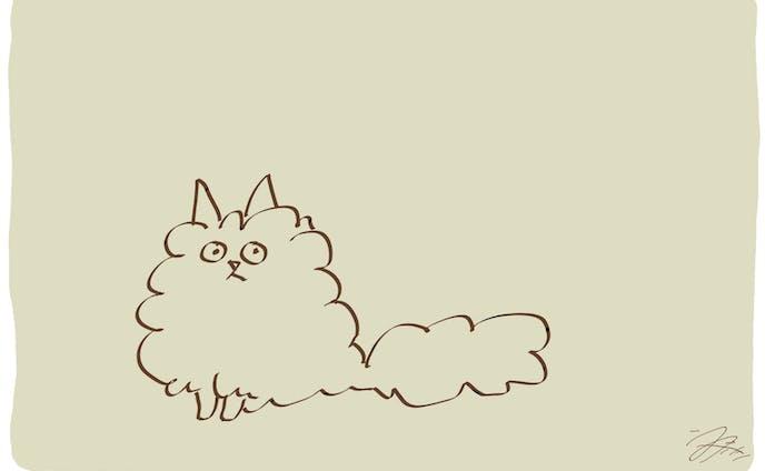 イラスト、猫