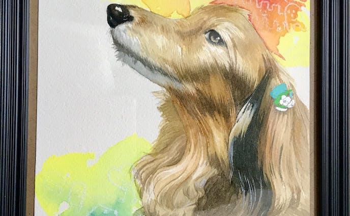 愛犬の肖像画(依頼作品)