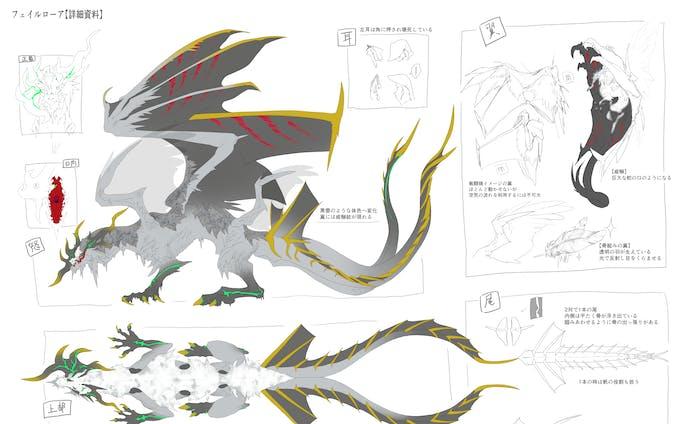 依頼ドラゴンデザイン
