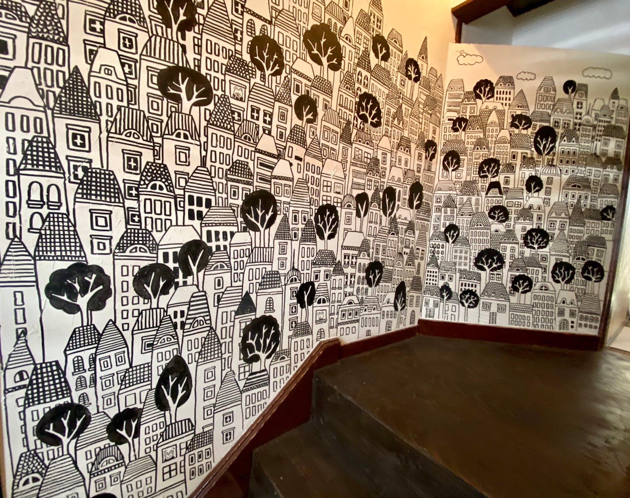 かえるのより道 壁画-2