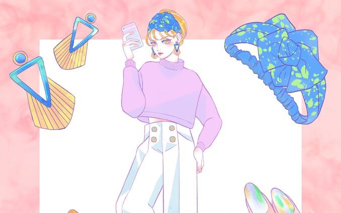 オリジナルイラスト【GUコーデ】