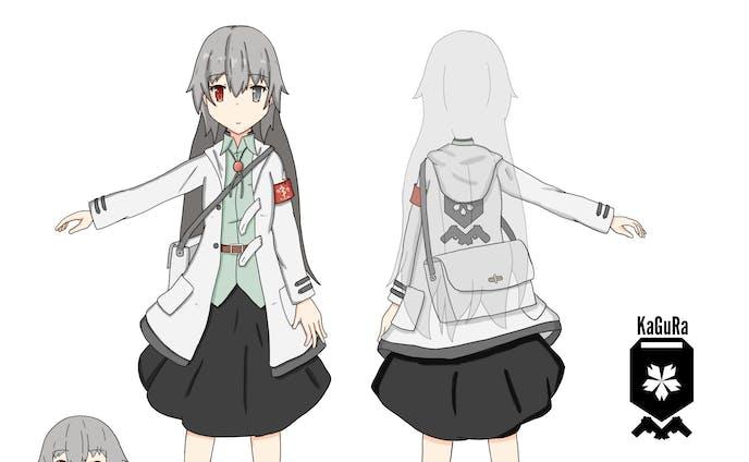 【キャラクターデザイン】【創作】ライカ