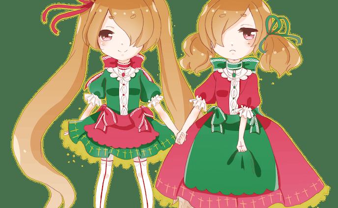 双子の魔法少女 ミニキャラクター