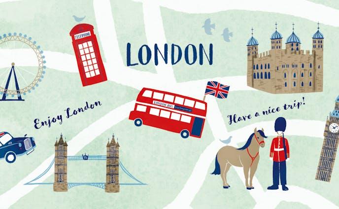 イギリス・ロンドンのイラストマップ