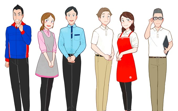 共働き主婦のためのハウスクリーニング情報サイト用 カットイラスト