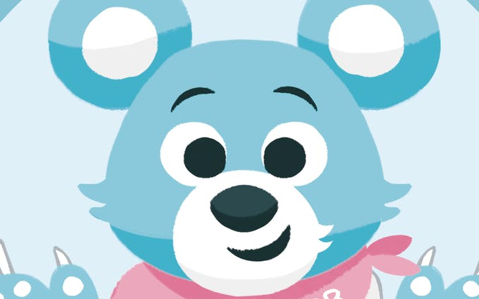 【works】Blue Bear Breads ステッカーデザイン
