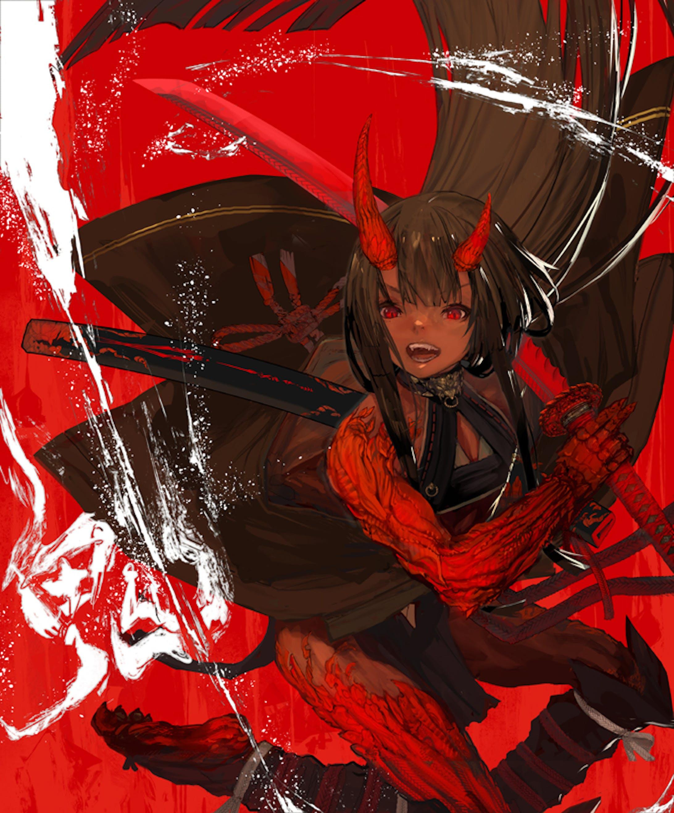 「創作」鬼の武者-1