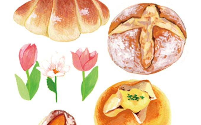 パン好きのためのポストカード