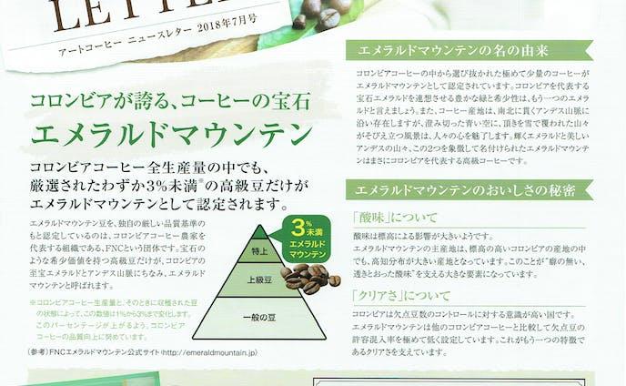 アートコーヒー社NewsLetter(A4サイズ・両面1枚・フルカラー)