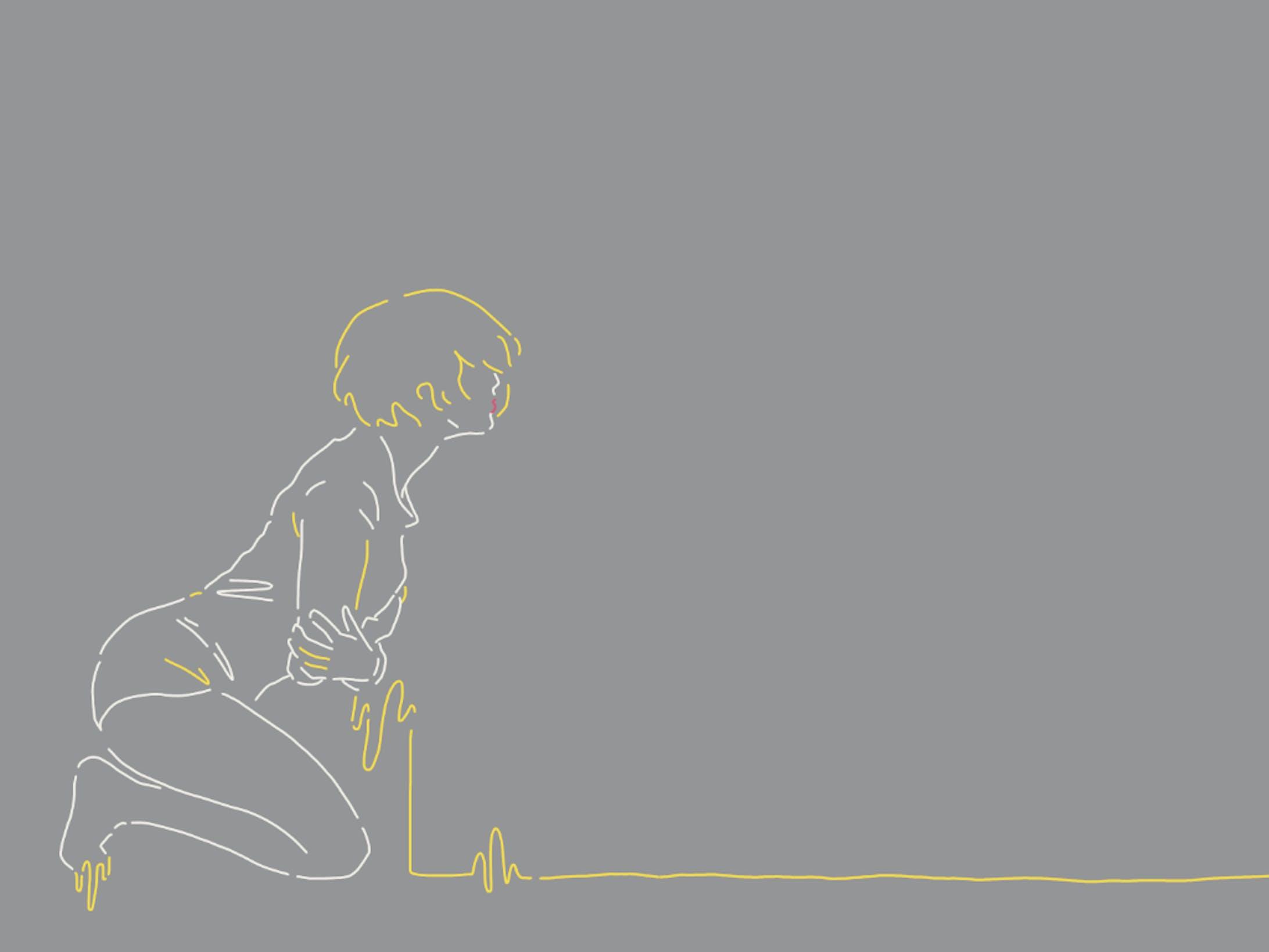 人物線画イラスト-2