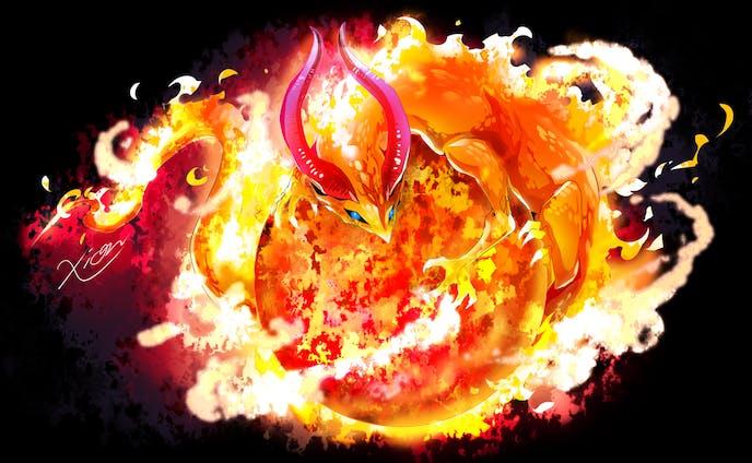 【創作】ワンドロ「太陽竜」