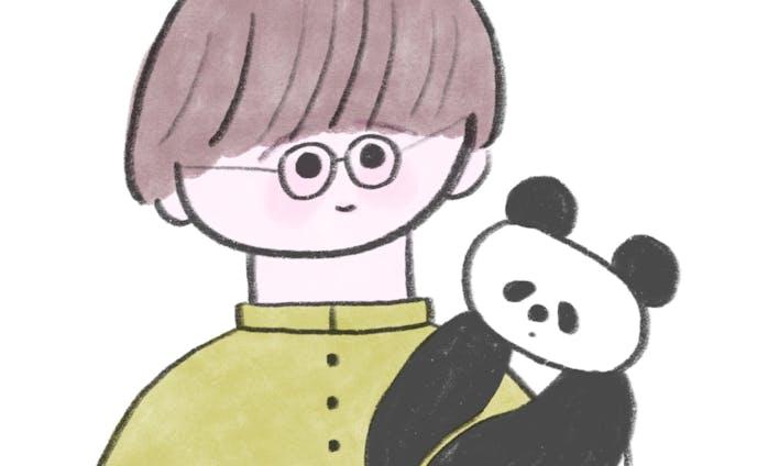 似顔絵+おまもり動物さん(SNS用アイコン)