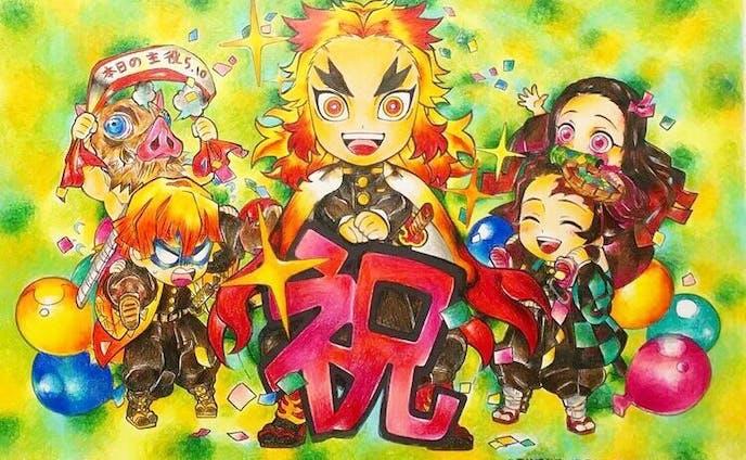 【塗り絵】鬼滅の刃 煉獄杏寿郎誕生日キャンペーン