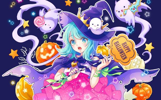 ハロウィンの魔女っ子