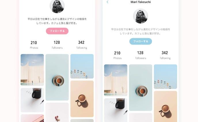 Profile|UI design