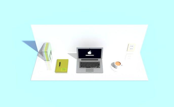 Voxel Art『My work desk』