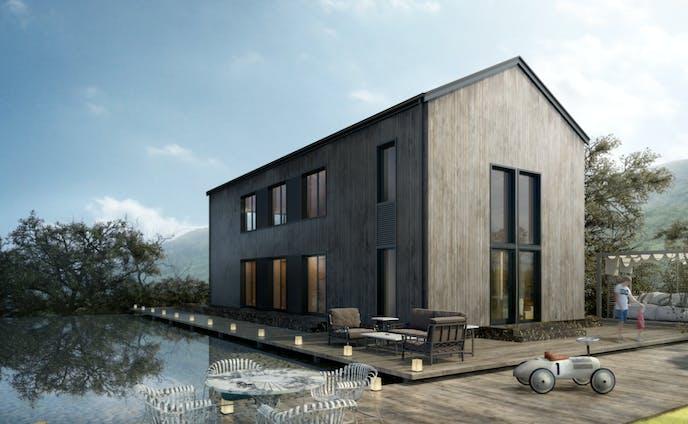 【建築CG】【3dsmax】【Photoshop】wood house レタッチ